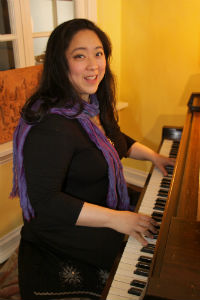 Emily Jiang at piano, photo by Donia Benke.